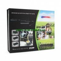 Зарядка автомобильная для ноутбука 120W 12V+220V в коробке (50)