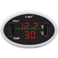 НЕТУ Часы автомобильные VST 708-1 (50)
