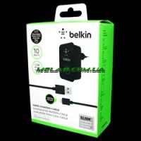 Зарядка Belkin 220v квадрат 2 USB + шнур iPhone [12] (200)