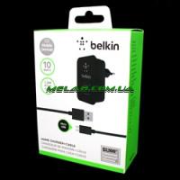 Зарядка Belkin 220v квадрат 2 USB + шнур Samsung [13] (200)