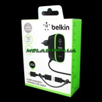 Зарядка Belkin 220v 2 USB + шнур Samsung/iPhone [14] (200)