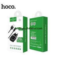 Зарядное устройство 220V HOCO C12+кабель iPhone-USB