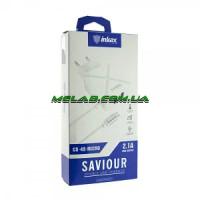 Зарядное устройство 220V INKAX CD-49 + iphone кабель